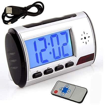 Mini Camera Espia Relógio Despertador Espião Sensor Presença - Foto 2