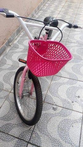 Bicicleta feminina infantil nova  - Foto 3