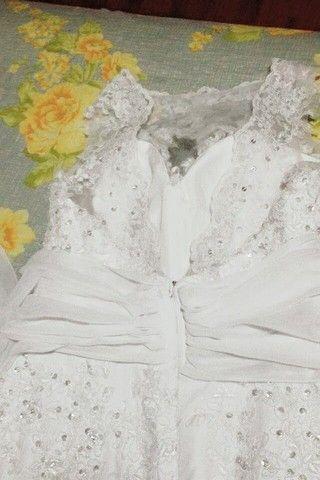 Vestido de noiva Sereia (M) **Aceito Cartão** - Foto 2