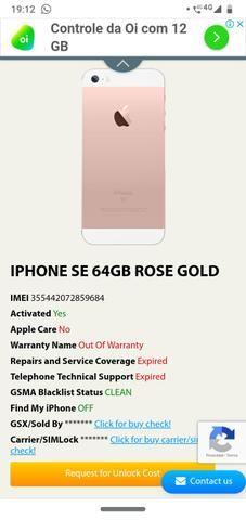 Iphone SE 64 gigas leia o anuncio