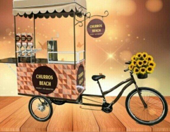 Carrinho de Pipoca Churros Food Bike - Foto 3