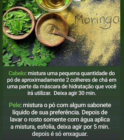 Moringa oleifera. farinha da moringa oleifera. 400g. frete grátis - Foto 2