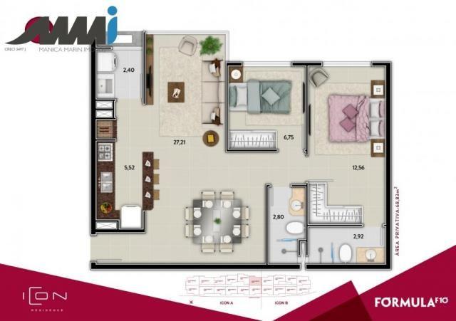 Icon - apartamento com 02 quartos sendo 01 suíte em bc - Foto 13