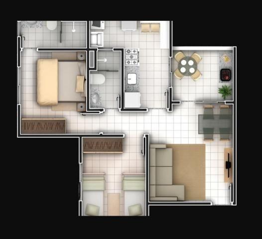 Apartamento com 2 dormitórios à venda, 59 m² por R$ 190.000 - Jardim Ipê - Goiânia/GO - Foto 3