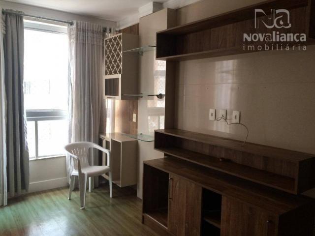 Apartamento com 3 quartos para alugar, 85 m² por R$ 1.500/mês - Itapuã - Vila Velha/ES - Foto 3