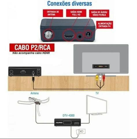 Conversor Digital e Gravador Full Hd Aquário Dtv 4000 - Foto 2