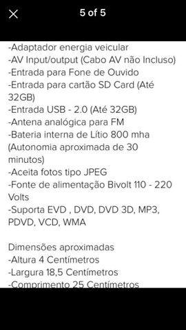 Dvd portátil  com várias  funções  - Foto 5