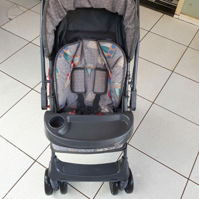 Vendo Berço minicama carolina c/ carrinho bebê Galzerano - Foto 5