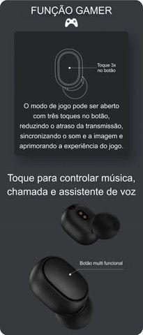 Fone de ouvido sem fio Xiaomi Redmi AirDots S preto original - Frete grátis p/ BH - Foto 6