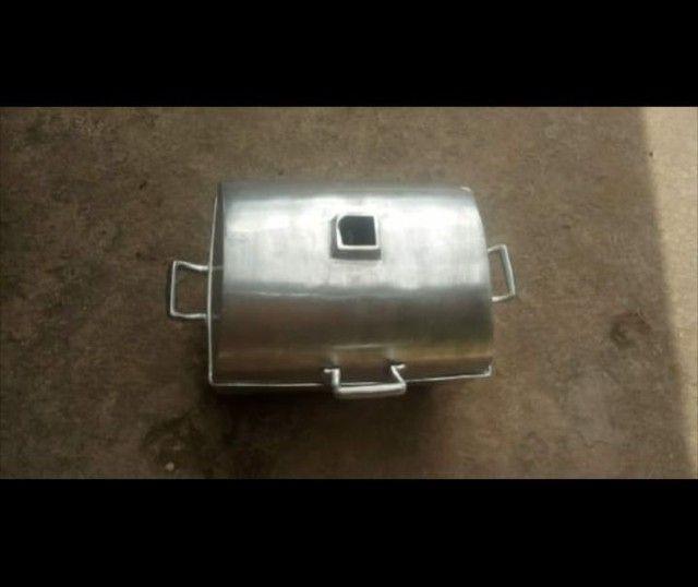 Vendemos churrasqueiras de aluminio desmontavél. - Foto 4