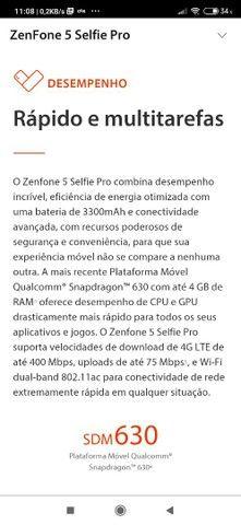 Vendo celular zenfone 5 selfie pró 128 giga 4ram - Foto 5
