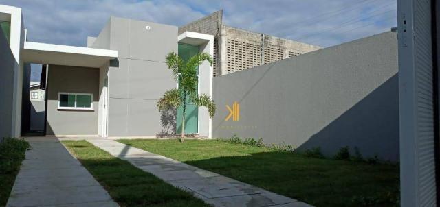 Casa com 3 dormitórios sendo 2 suítes à venda, 88 m² por R$ 219.000 - Timbu - Eusébio/CE