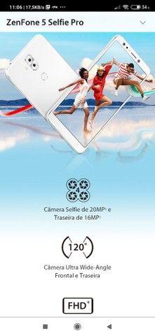 Vendo celular zenfone 5 selfie pró 128 giga 4ram - Foto 2