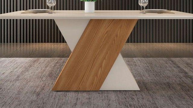 Mesa de Jantar 6 Cadeiras Rubi -- Entrega e montagem Na Hora - Foto 3