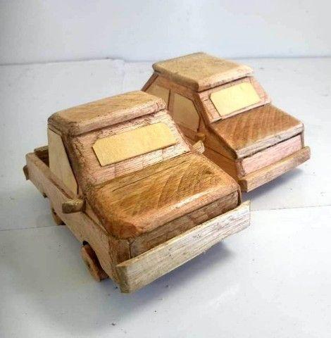 Carrinho De Madeira Tipo Reboque - Foto 2