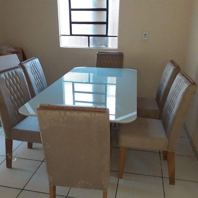 Mesa de Jantar 6 Cadeiras Rubi -- Entrega e montagem Na Hora - Foto 4