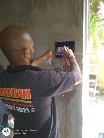 Eletricista- Portão eletrônico- alarmes- câmeras- concertina - Foto 4