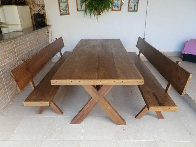 Mesa de madeira demolição  - Foto 4