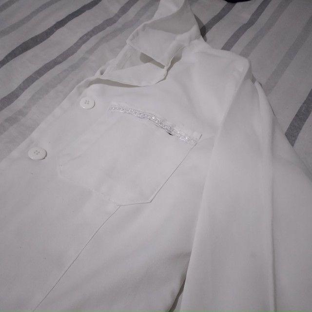 Jaleco Branco M grande - Foto 4