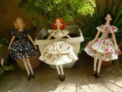 Bonecas de pano Tilda