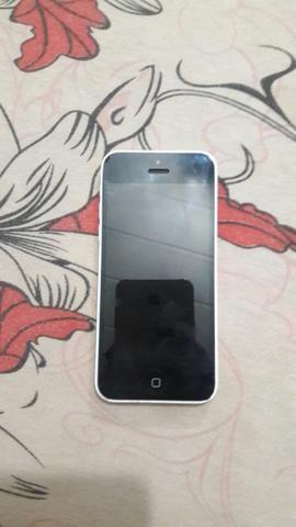 Vendo iphone 5c branco semi novo