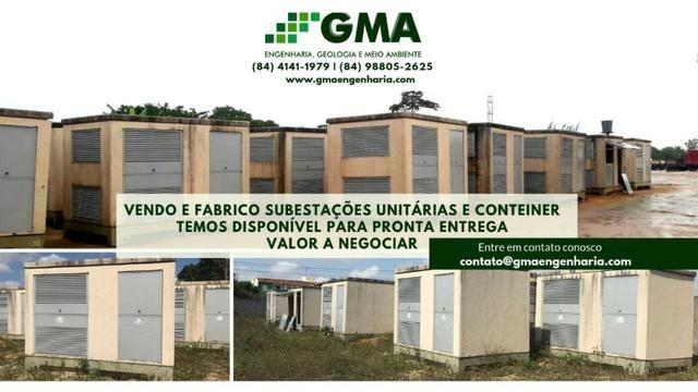 Contêiner, Subestação unitária, Caseta com: