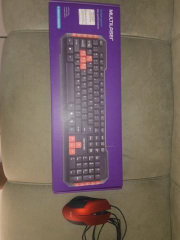 Mouse gamer e teclado na cx lacrado