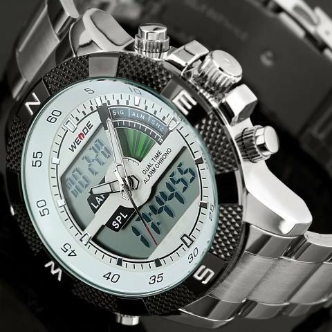 b19b6849a61 Relógio Weide Original - Digital e Analógico - Bijouterias