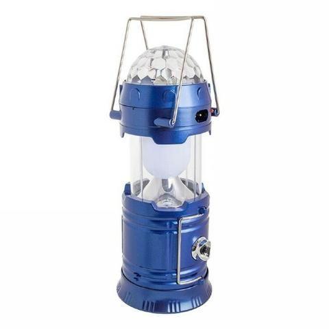 Lampião 3 em 1 Luminária Led Giratória Lanterna Recarregável - Foto 3