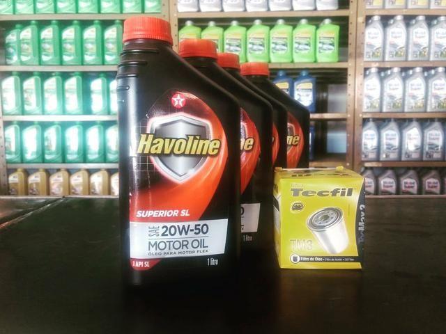 Lubrificante Havoline Superior SL 20w50 + Filtro de Óleo