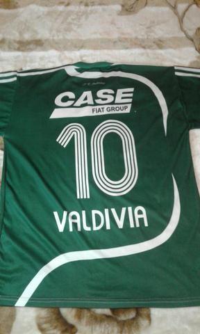 4e6155f4fcc56 Camiseta Palmeiras - Fiat - 10 Valdivia - Original - Esportes e ...