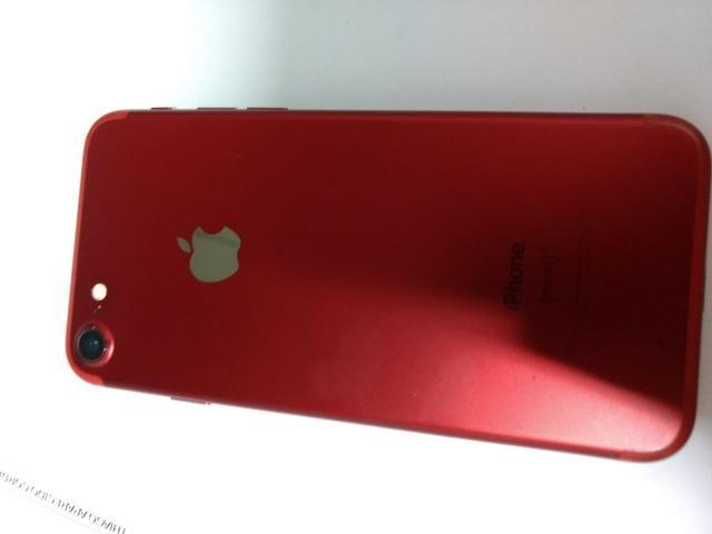 IPhone 7 Red 128 GB - Vendo ou troco - Foto 6