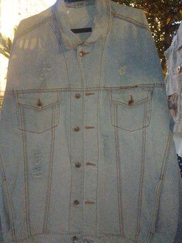 Jaqueta retro clara tamanho G - Foto 4