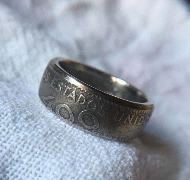Anel de moeda antiga / Coin Rings / 400 Reis - Foto 4