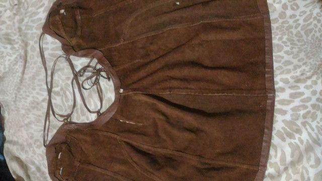 Vestido de couro com etiqueta - Foto 2