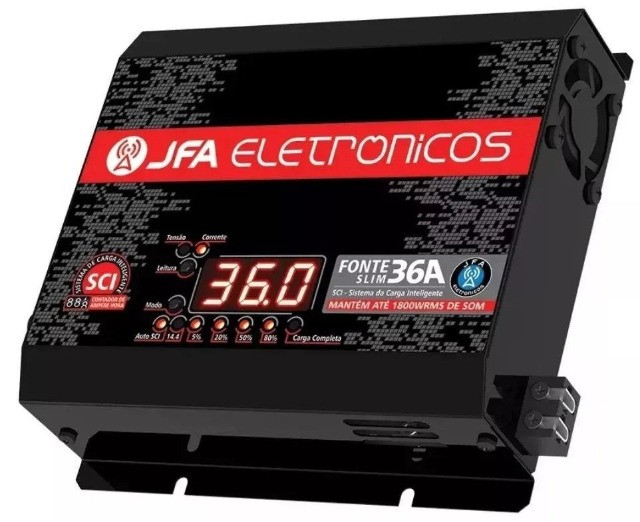 Fonte Automotiva Jfa 36 Amperes Sci Voltímetro / Amperímetro - Caruaru (PE)