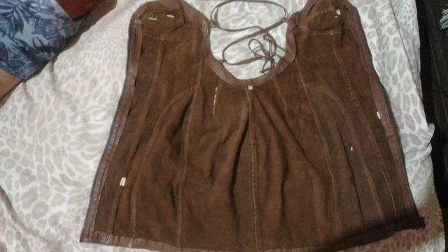 Vestido de couro com etiqueta - Foto 6