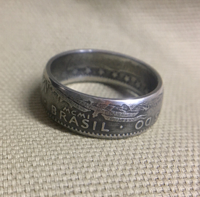 Anel de moeda antiga / Coin Rings / 400 Reis - Foto 2