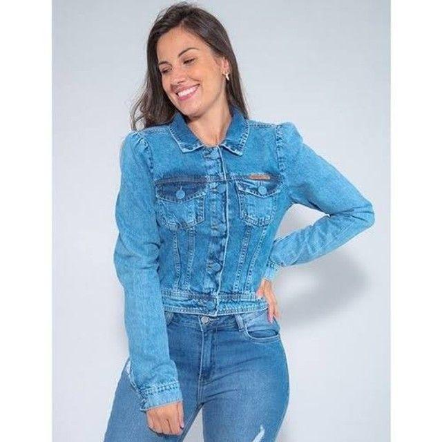 Jaquetas jeans feminina e masculina