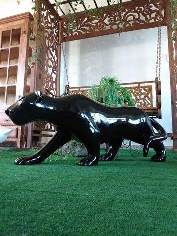 Escultura de PANTERA NEGRA em fibra de vidro e resina - Foto 3