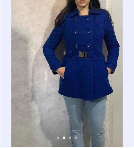 Casa de lã batida azul royal carla calin - Foto 2