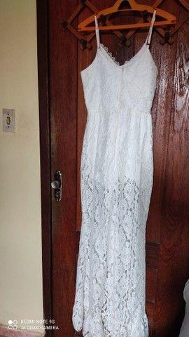 """02 macacão branco TM """"M"""" 01 Vestido para casamento em cartório TM """"M"""" - Foto 2"""
