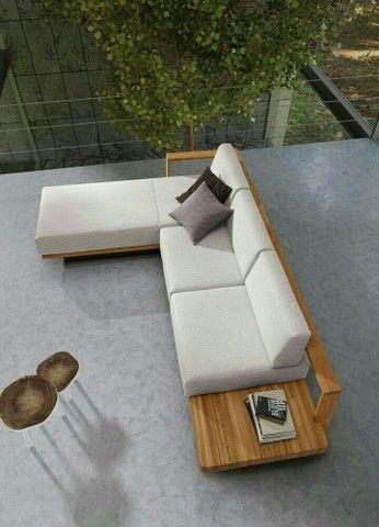 sofás e poltronas para piscinas e Jardim com tecido lmpermeabisante  - Foto 2