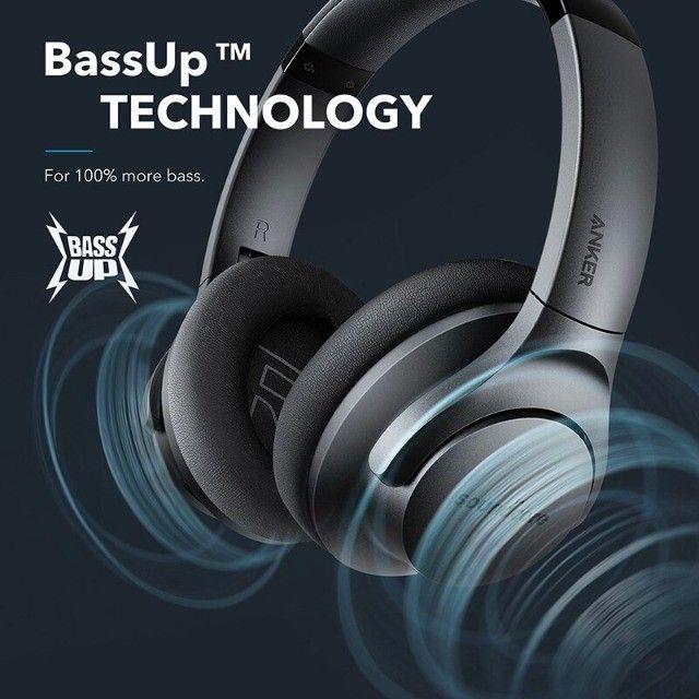 Fone de Ouvido Bluetooth Com Cancelamento de Ruído Ativo Anker Soundcore Life Q20 + Bag - Foto 6