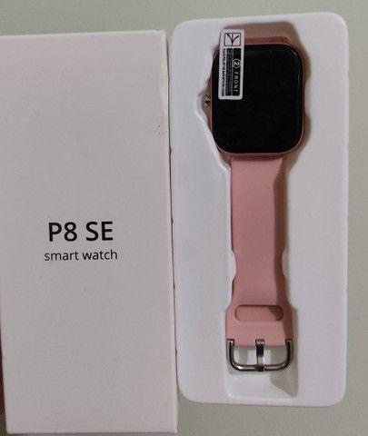 Relógio inteligente P8 SE Sitlos rosa (novo) R$100,00 - Foto 2