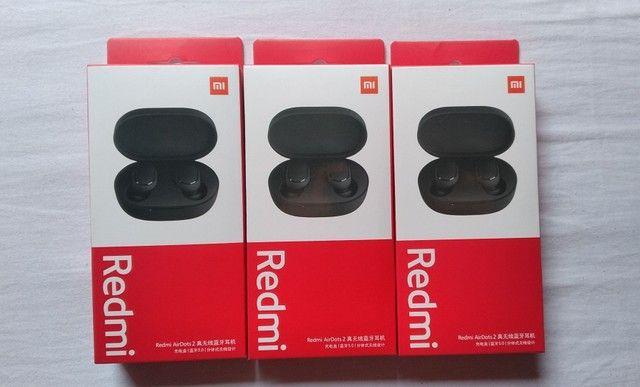 Fone bluetooth Xiaomi - AirDots 2 + Case vermelha de brinde - Foto 3