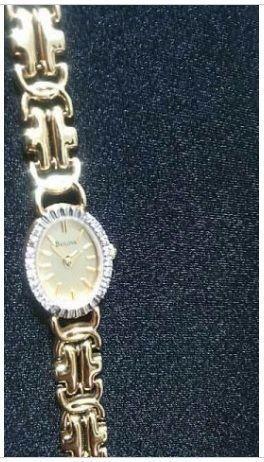 Relógio Feminino Bulova Feminino em Ouro Maciço 14k, 16 Diamantes Novo Valor