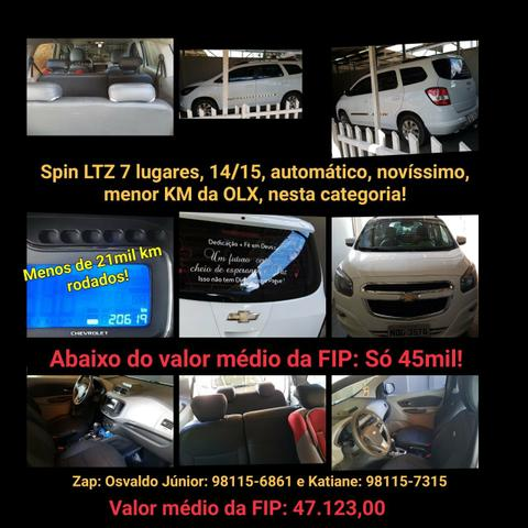Spin LTZ, 7 lugares, 14/15, menos de 21mil km rodados, automática, novíssima, completona!