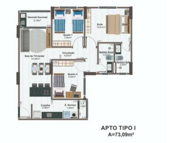 Apartamentos 2 quartos, 63 m² na 405 Sul - Torre Esmeralda - Foto 7