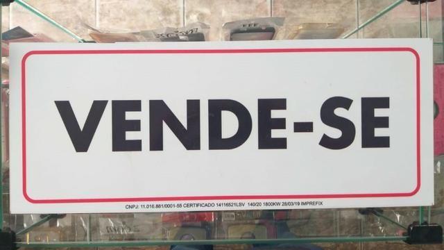 Placa De Vende-se Personalizada 50x20 Novo Garantia